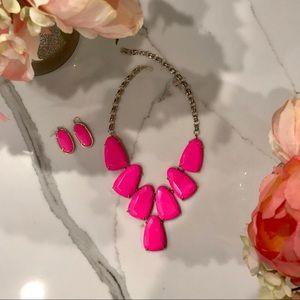 Kendra Scott Neon Pink Harlow